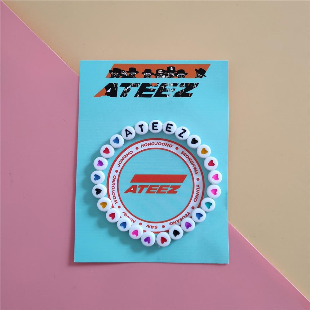 Kpop ATEEZ Bracelet ATINY For Fans Collection MINGI YUNHO Acrylic Bracelet K-POP ATEEZ Album New Arrivals
