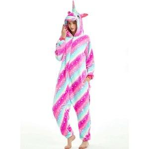 Image 2 - Women Unicorn Pajamas Sets Kigurumi Flannel Cute Animal Pajamas kids Women Winter unicornio Nightie Pyjamas Sleepwear Homewear