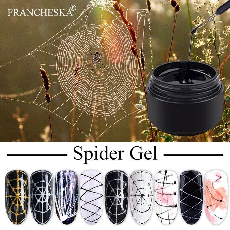 8 мл паук линия гель для дизайна ногтей УФ гель Цвета картина Гель-лак для ногтей паук Гель-лак наклейки паутина гель челнока TSLM1