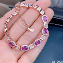 KJJEAXCMY boutique jewelry 925 sterling silver inlaid natural garnet bracelet luxury female bracelet support testing 4mm natural garnet round beads bracelet fashion garnet jewelry bracelet