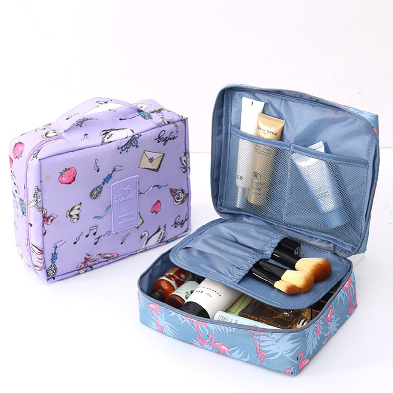 2019 Multi-function Travel Cosmetic Bag Ladies Cosmetics Storage Bag Storage Makeup Waterproof Handbags Portable Cosmetic Case