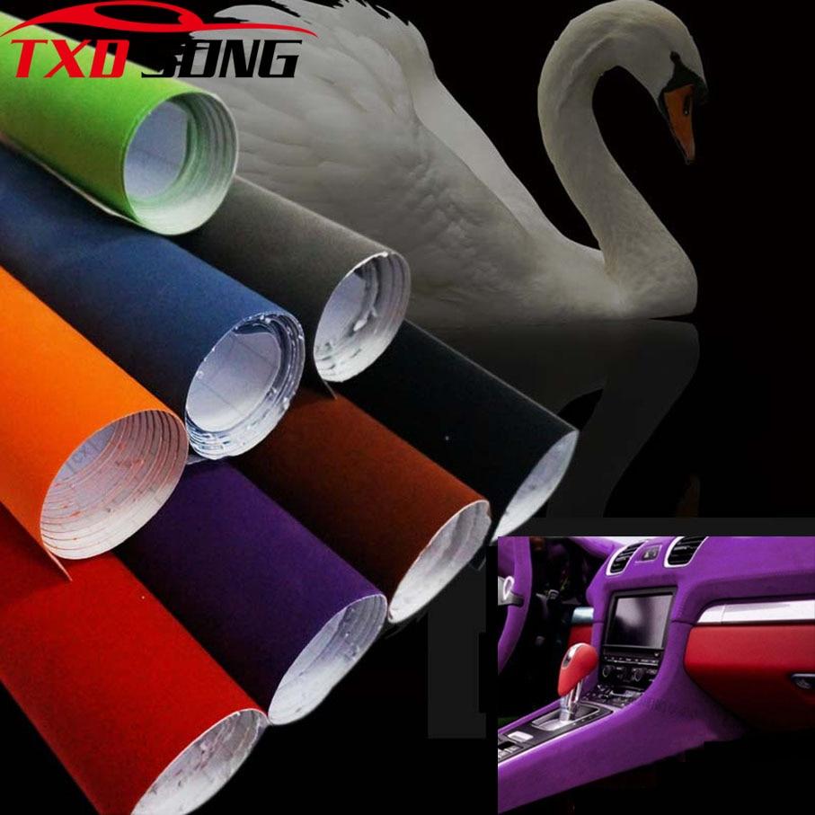 10/20/30/40/50x13 5 см/лот Премиум качество черная замша ПВХ стикер бархат для автомобиля обертывание винил для упаковки автомобиля