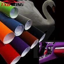 10/20/30/40/50x13 5 cm/lot qualidade premium preto camurça pvc adesivo de veludo para envoltório de carro vinil para embrulho de carro