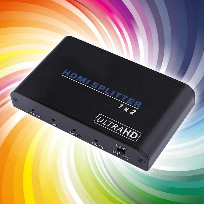 Hdmi Splitter 2.0 Distributor One In Two Out Frequency Divider Computer Splitter Video Switcher Supporting Up-to-Date Function