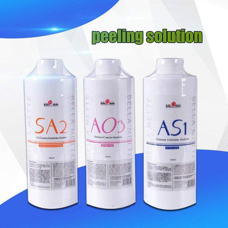 Professional Hydrafacial Machine Use Aqua Peeling Solution AS1 SA2 AO3 Aqua Facial Serum Hydra Facial Serum For Normal Skin