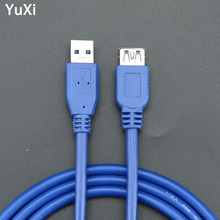 YuXi 1.5m 3m 5m USB 3.0 Extension Cable Male to Female Data Sync Fast Speed Cord Connector For Laptop PC Printer Hard Disk usb 2 0 male to female usb extender cord cable 1 5m 3m 5m 2019 wire super speed data sync extension cable for pc laptop keyboard