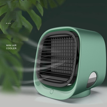 USB Mini Air Conditioner With Night Light Portable Humidification Desktop Air Cooler Multifunction Summer Air Cooling Fan