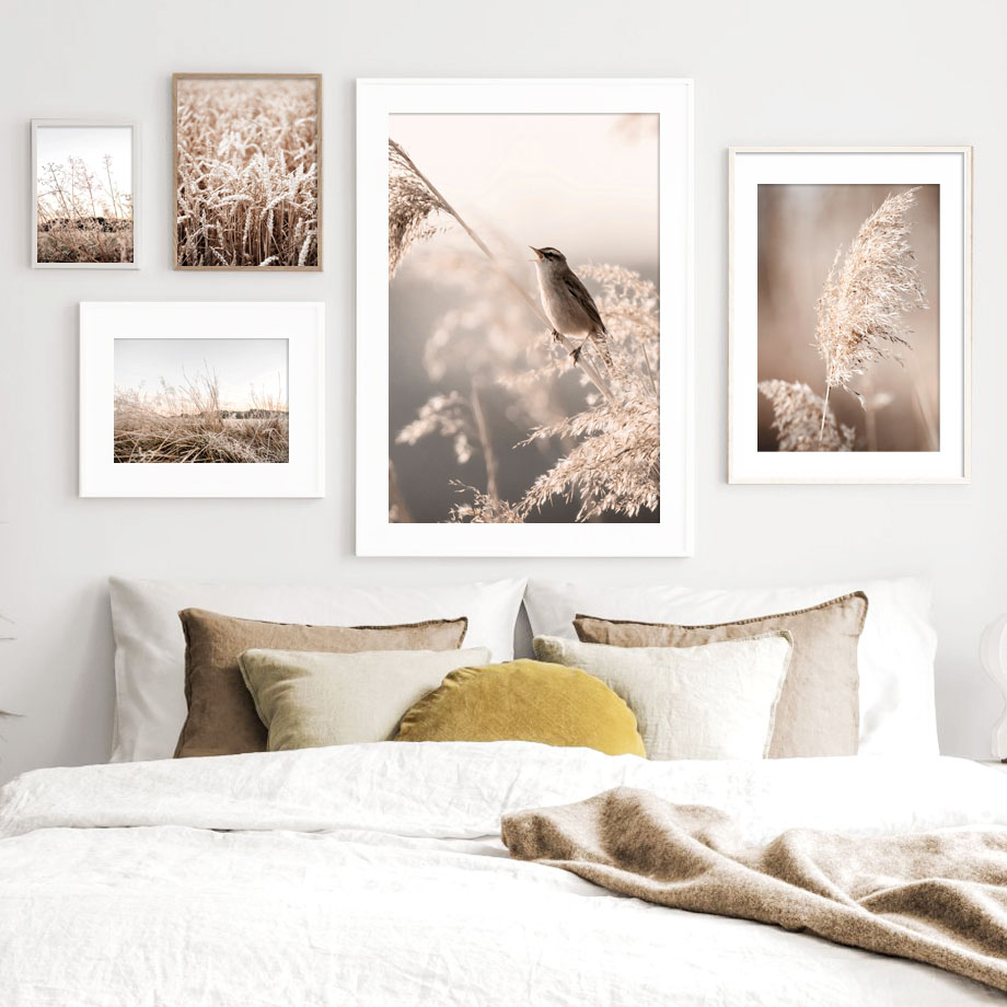 Reed Wheat Plant Bird Autumn Quote Nordic Posters And Prints Wall Art Canvas Painting Wall Pictures For Living Room Home Decor Painting Calligraphy Aliexpress