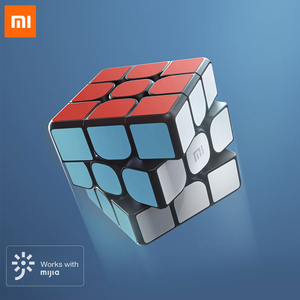 Image 1 - الأصلي Xiaomi مي الذكية المكعب السحري بلوتوث 3D ديناميكية التدريس ستة محور الاستشعار العمل مع Mijia التطبيق للعلوم التعليم لعبة