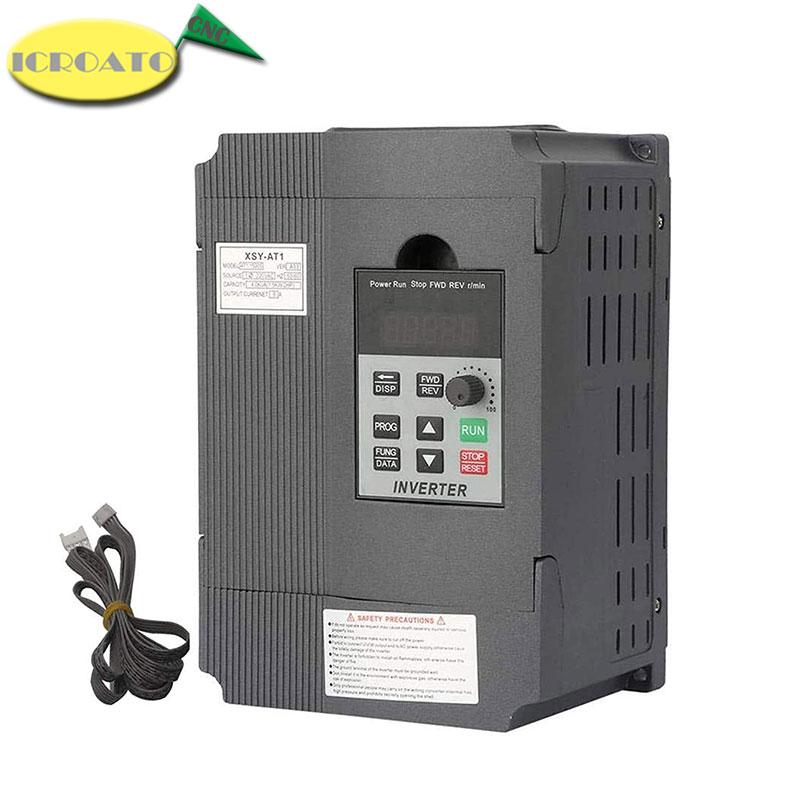1.5KW/2.2KW/ 220V Single-phase inverter input VFD 3 Phase Output Frequency Converter Adjustable Speed 1500W 220V Inverter