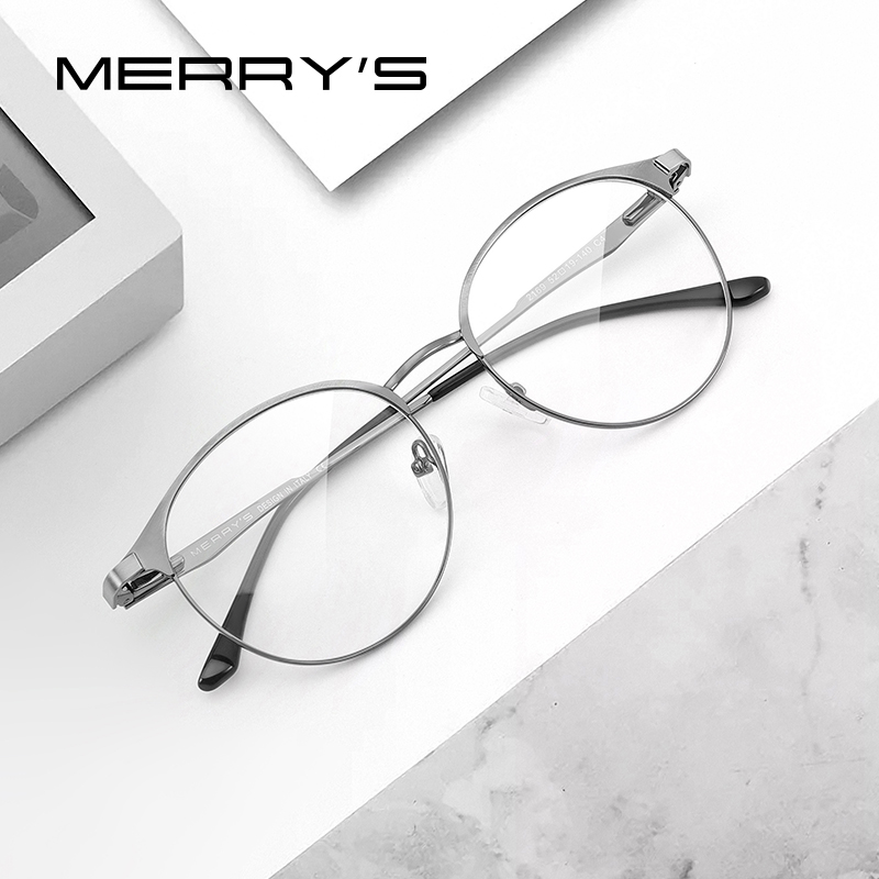 MERRYS DESIGN Women Luxury Titanium Alloy Optics Glasses Frames Vintage Ultralight Myopia Prescription Eyeglasses S2169