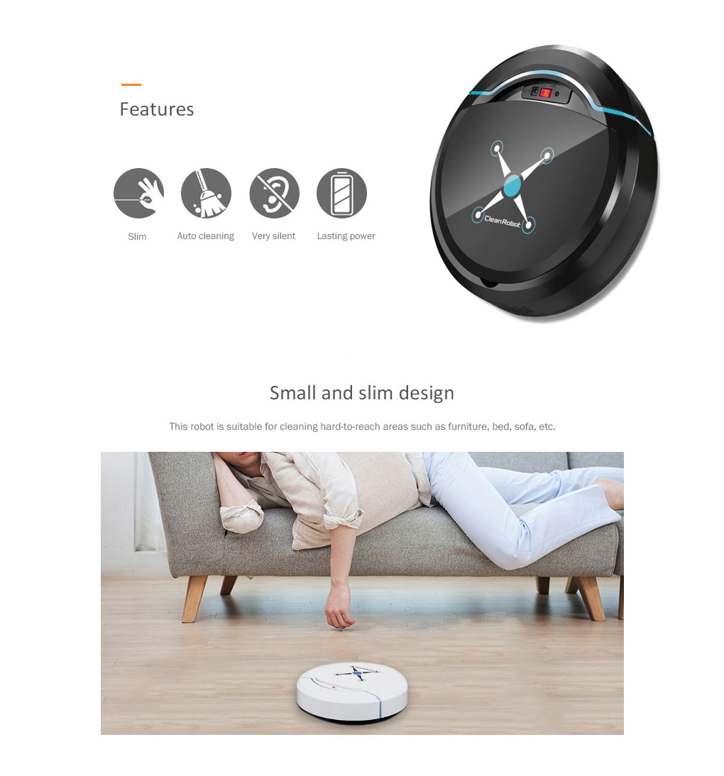Hfdaf14227b8e4182ad65164ba89b6d82j Automatic Smart Robot Vacuum Cleaner Small Vacuum Cleaners Sweeping Robot Floor Dirt Auto Home USB Rechargeable Cleaning Machine