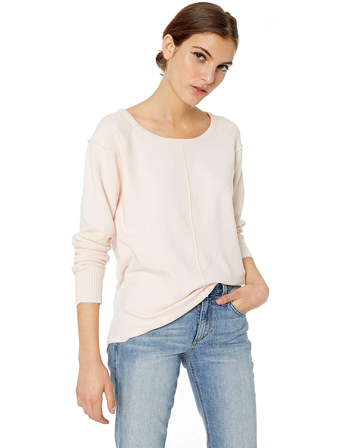 Women's Babysoft Long Sleeve Soft Solid Pullover Sweater  Calf-Length Pants  Casual  Skinny  Pleated  Low 21 Pieces