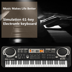 Electronic Piano Child with Microphone Electronic Organ for Beginners Can Play Musical Toys Small Piano Electronic Organ