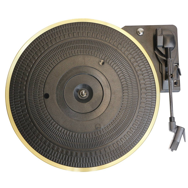 28Cm Metal Turntable 33/45/78Rpm Automatic Straight Arm Return Record Player Turntable Gramophone For Lp Vinyl Record Player