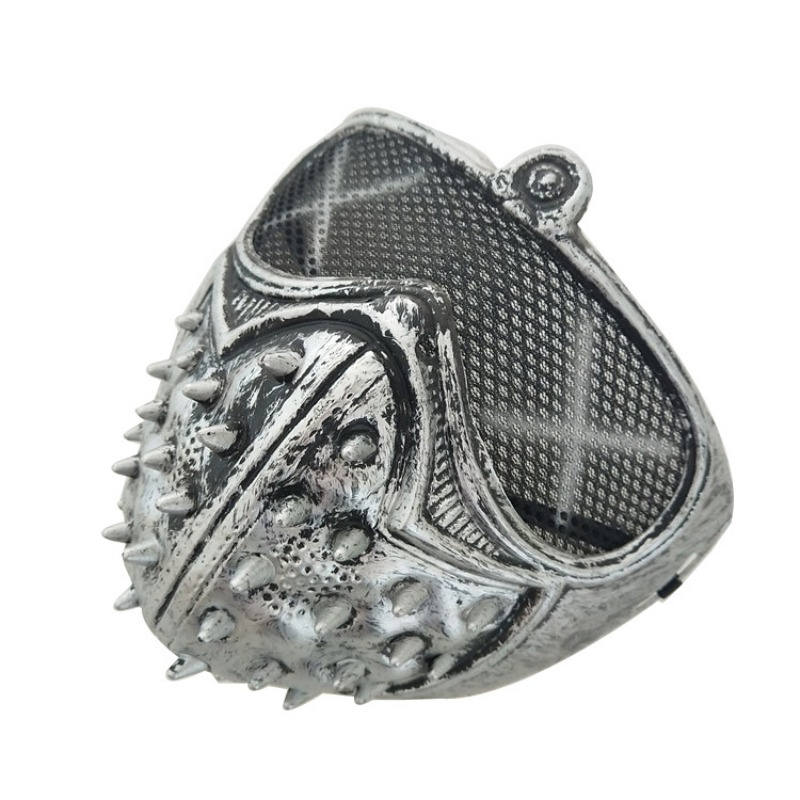 Halloween Mysterious Stage Masks With Rivets Cool Street Style For Man Black Gold Party Face Plastic Mask Accessories 1