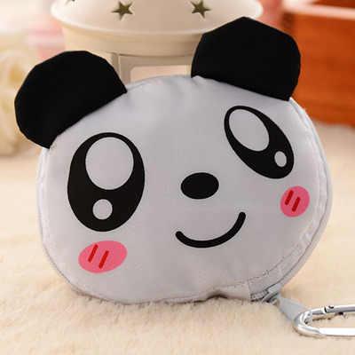 Мультяшные животные Складная хозяйственная сумка многоразовая эко складная сумка панда лягушка, Свинья медведь водонепроницаемые хозяйственные сумки Сумки для хранения