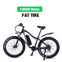 Electric-Bike Frame Bicycle-Fat-Tire Lithium-Battery Mountain-E RX02 1000W 21-Speed Adults