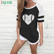 Summer T-shirt cotton short-sleeved loose women casual print O-neck T-s