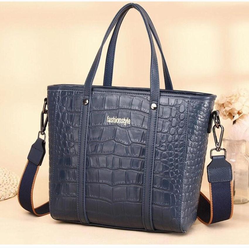 dm prime fênix bolsa de couro de crocodilo azul