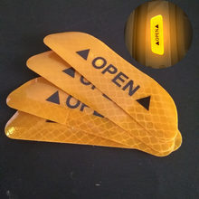 4/set von auto sicherheit warnung reflektierende outdoor aufkleber für Chery Tiggo Fulwin A1 A3 QQ E3 E5 G5 v5/EMGRAND EC7 EC7-RV EC8