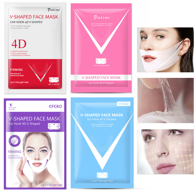 1/2/3PCS 4D V Shape Slim Mask Face Lift Tools Thin Face Mask 
