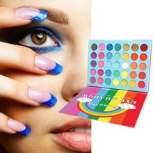 35 farben Regenbogen Neon Lidschatten Pallete Bunte Lidschatten Wasserdicht Lidschatten Make-Up Pallete Lang Anhaltende Hohe Pigment