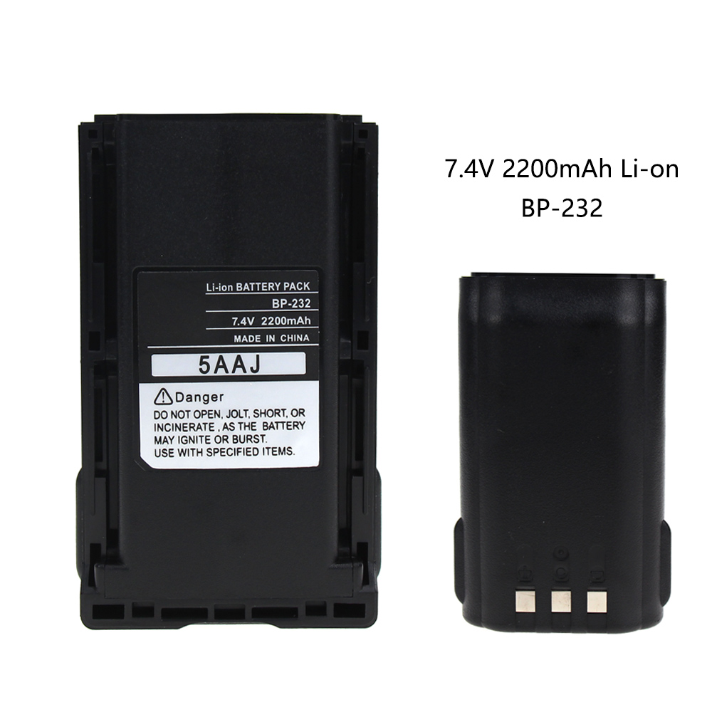 Replacement For Icom BP-232 Battery - For IC-A14 IC-F33 IC-F3011 IC-4011 Two-Way Radio  (2200mAh 7.4V Li-ON)