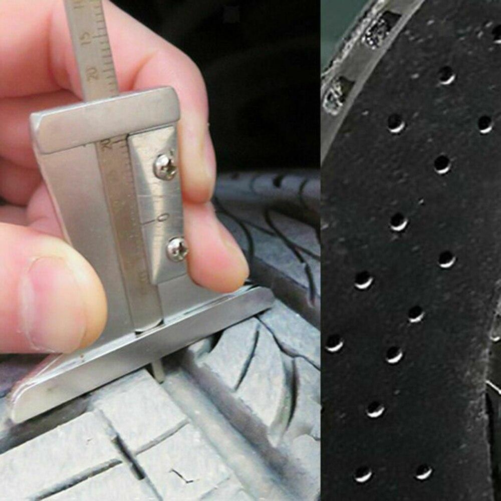 black surface rustproof Tire pattern depth gauge car brake disc thickness tool