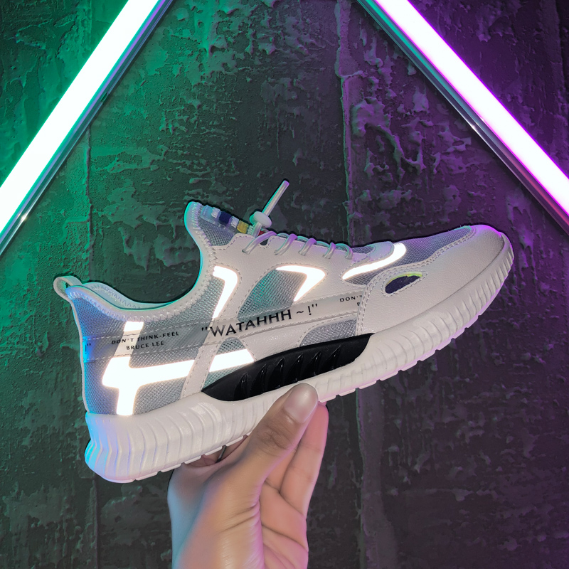 ins shoes men's spring men's sports casual tide shoes Korean trend wild 2020 new luminous running shoes