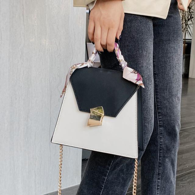 Vintage Fashion Female Ribbon Tote Bag 2019 New High Quality PU Leather Women's Designer Handbag Lock Chain Shoulder Messenger Bag
