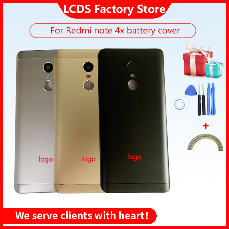 Battery <font><b>Back</b></font> <font><b>Cover</b></font> For <font><b>Redmi</b></font> <font><b>Note</b></font> <font><b>4X</b></font> Battery <font><b>Back</b></font> Case For <font><b>Redmi</b></font> <font><b>Note</b></font> 4 Global Version Housing +Volume buttons + Power Buttons image