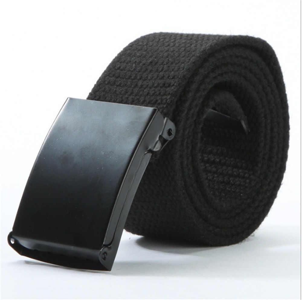 Di Modo Casual Cintura di Metallo per Gli Uomini Automatico Fibbia Esercito Militare Tattico di Combattimento Cinture Pianura Nastri E Fettucce Cintura in Vita Cintura