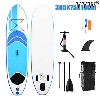 Surfboard 305*75*10cm  Inflatable Sup Stand Up Paddle Board Surf Kayak Boat Leg Leash Dinghy Raft Water Sport Paddle Surf Board high quality paddle board bag stand up paddle bag hot sale sup paddle bag paddle surf