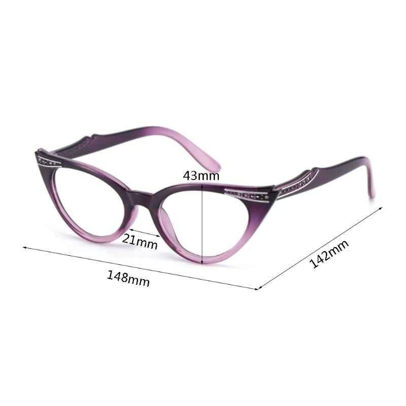 חתול עיניים נשים משקפי קריאת Presbyopic משקפיים רוחק משקפי משקפיים