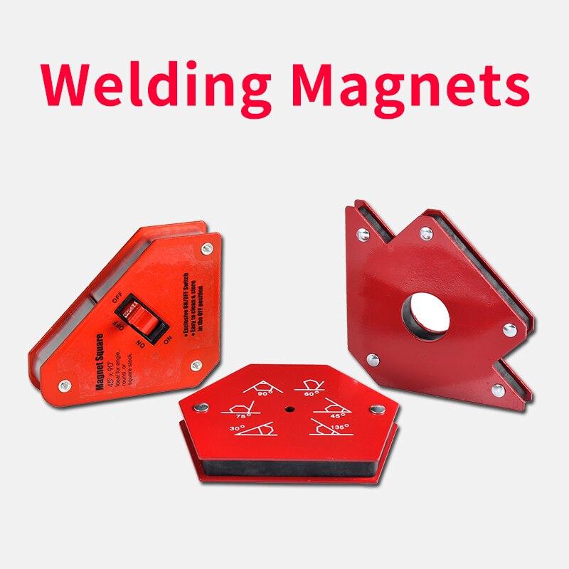 Solder Locator Kuat Magnetik 25lb 50lb 75lb Las Magnet Pemegang 3 Sudut Panah Tukang Las Positioner Las Alat Aksesoris
