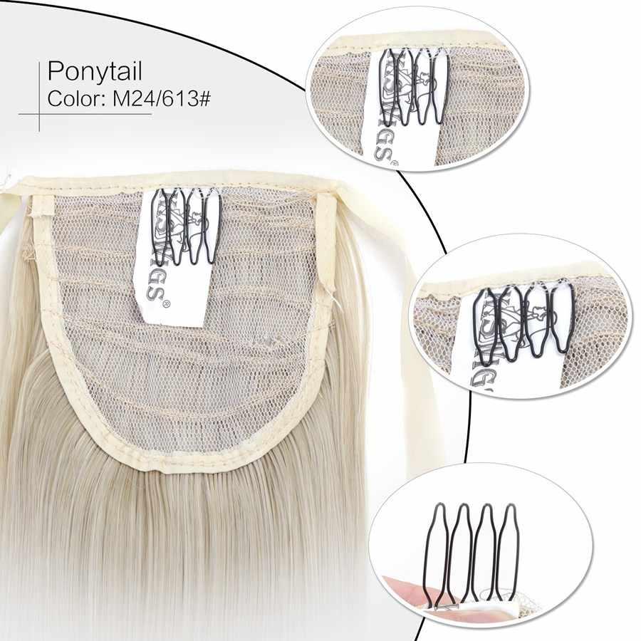 Neitsi 22 ''55 cm 1PC Straight Clip In Staart Valse Haar Hittebestendige Synthetische Haarstukjes Paardenstaart Hair Extensions voor Vrouwen