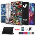 Baskılı kapak samsung kılıfı Galaxy Tab A 8.0 SM T290 T295 T297 2019 tab 8 koruyucu cilt PU deri kılıf + hediye