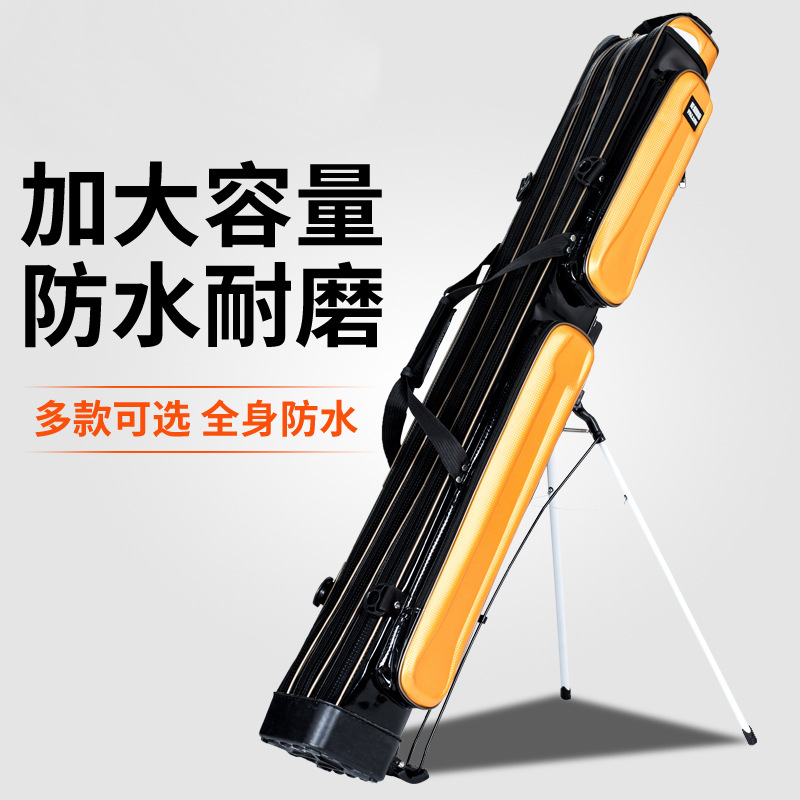 Wholesale Fishing Rod Package With Three Layers Of Waterproof Fishing Bag Canvas Gear Package And Pu material title=
