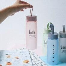 520ml Frosted Portable Seal Bottles Plastic Sports Water Bottle Leak-proof
