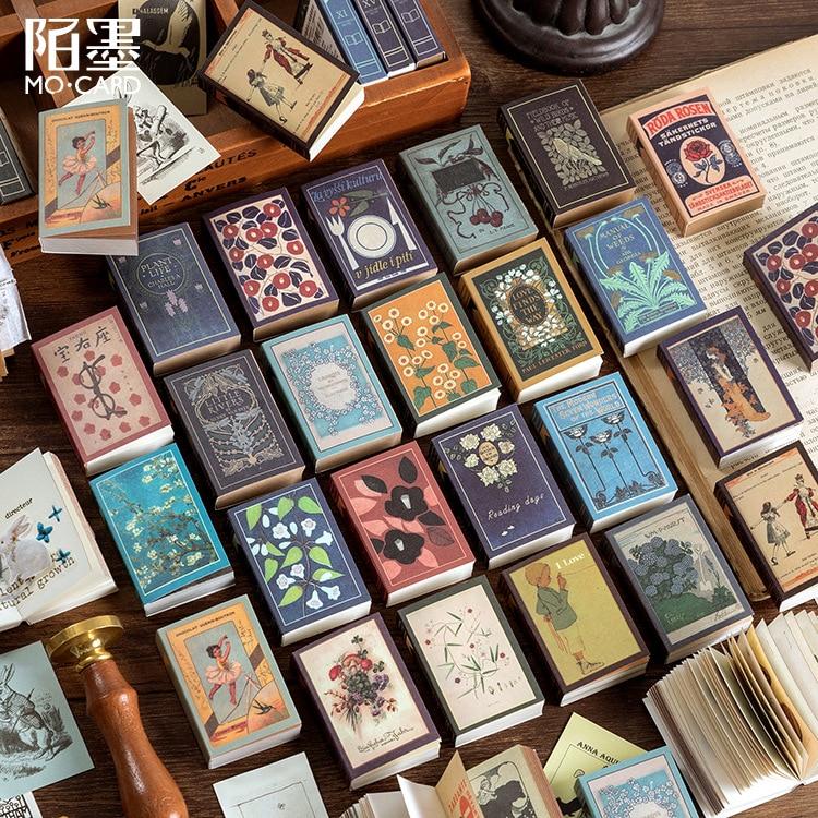 Retro Mini Plant Painting Memo Pad Vintage Word Pocket Book Planner List Agenda Notepad Stationery School Office Supplies Sl2247