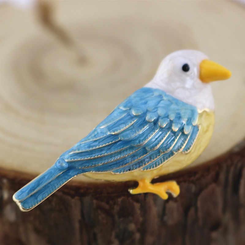 Настраиваемые европейские и американские аксессуары в новом стиле цвет Эмаль Глазурь зеленый синий перо птица брошь корсаж
