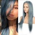 Schlanke Menschliche Haar Perücken Für Frauen Blau Orange Blonde Spitze Vorne Perücke Bob Brasilianische Haar Perücken Kurze Cosplay Spitze Gerade perücken Schnelle