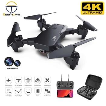 Nowy Rc Drone 4k HD szerokokątny aparat 1080P WiFi dron fpv podwójny aparat Quadcopter transmisja w czasie rzeczywistym zabawki-helikoptery 2020 tanie i dobre opinie DEEPAOWILL CN (pochodzenie) Z tworzywa sztucznego 100m 26*27*6cm Mode2 15day Silnik szczotki 3 7v S60 rc drone 4 kanały