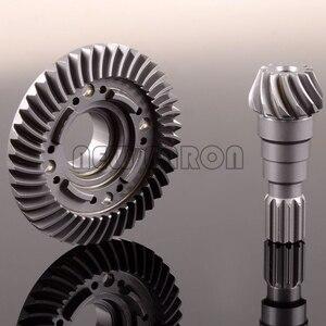 Image 2 - 新しいエンロン 1/5 フロントまたはリア硬質クロム鋼スパイラルカット差動リングピニオンギア 7777X 7778X rc 車トラクサス x マックス 6 s