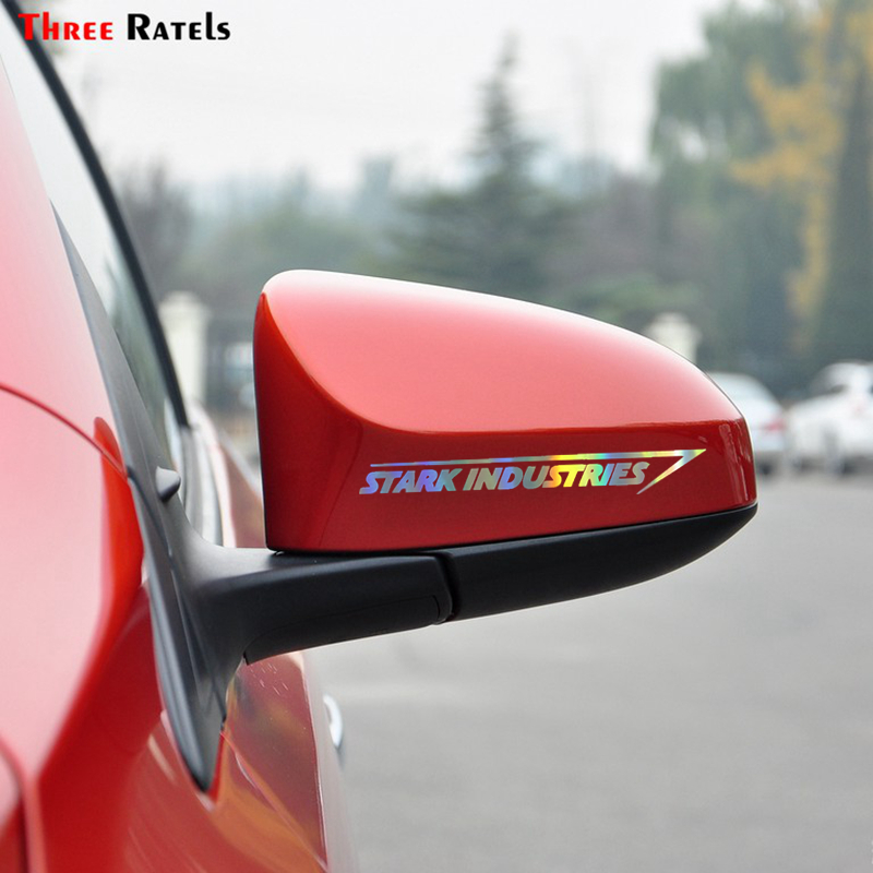 Three Ratels FTZ-95# 20x2.7cm 2pcs Stark Industries Car Body Stripes Stickers Vinyl Decal Marvel Iron Man Car Stying Jdm Racing
