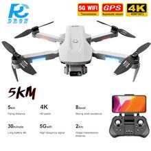 Zangão sem escova dobrável do zangão de wifi fpv quadcopter do zangão do dron f8 5g gps profissional com câmera dupla de hd 4k