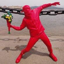 Креативная британская уличная скульптура статуя Искусство Цветок