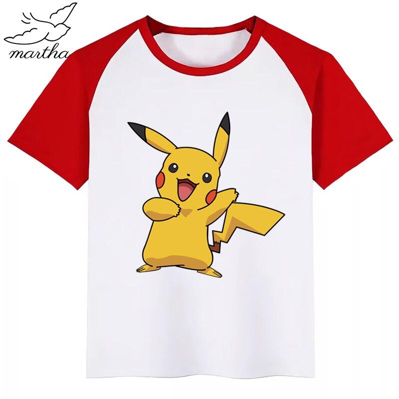 PIKACHU Boys Girls Summer Cotton Kids T-shirt Tee Top Short Sleeve Cloth Outfit