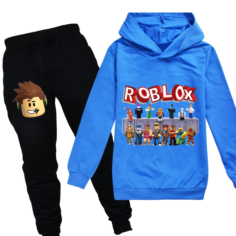 2-14Years Baby Clothing Sets Children Birthday suit girls/Boys Tracksuits Kids Robloxing Sport Suits Hoodies Top +Pants 2pcs Set